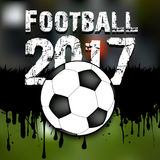 Abstract background football 2017. Grunge background. Vector illustration royalty free illustration