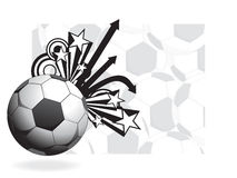 Abstract background with football, illustration Stock Image