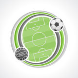 Abstract background on the football theme. The image on the football theme stock illustration