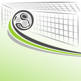Abstract background on the football theme. The image on the football theme Stock Image