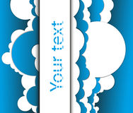 Abstract background in the form of clouds. Abstract vector background in the form of clouds Stock Illustration