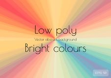 Abstract background in the form of a multicolored bright stretching into the distance converging to a point of the rainbow, LGBT. Textured Vector Illustration royalty free illustration