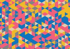 Abstract background A4 format. Pattern of multiple triangles. Shades of colors Stock Image