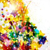 Abstract background forming by watercolor paint splashes. Stock Photography