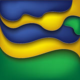 Abstract Background. With four brazil 2014 vector illustration