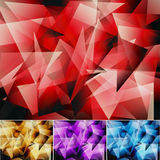 Abstract background. Four colors geometrical Stock Images