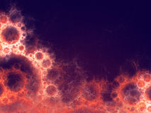 Abstract background with fractal bubbles. Royalty Free Stock Photo