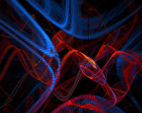 Abstract background. Fractal curves Royalty Free Stock Photos