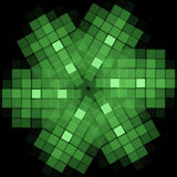 Abstract background. Fractal design. Square pattern. On black background Stock Photography