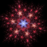 Abstract background. Fractal design. Star pattern Royalty Free Stock Images
