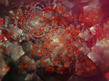 Abstract background with fractal flower.  Digital collage. Royalty Free Stock Photos