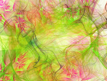 Abstract background with fractal flowers. Stock Photos