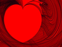 Abstract background. Fractal heart Stock Photography