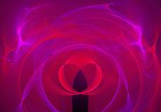Abstract background with fractal heart. Digital collage. Royalty Free Stock Image