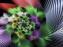 abstract background fractal spiral Ι διανυσματική απεικόνιση
