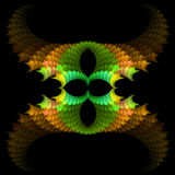 abstract background fractal symmetrical 皇族释放例证