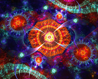 Abstract background with fractals shapes Royalty Free Stock Photos