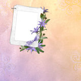 Abstract background with frame. In scrapbooking style Royalty Free Illustration