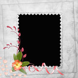 Abstract background with frame. In scrapbooking style Royalty Free Stock Photo