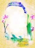 Abstract Background with Frame as an arch. Picture by a watercolor Stock Images