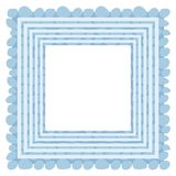 Abstract background with frame. Abstract blue and white background with frame and pattern Royalty Free Illustration