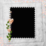 Abstract background with frame and heart Stock Photos