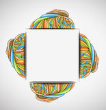 Abstract  background with frame. Illustration 10 version Stock Illustration
