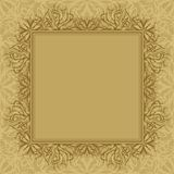 Abstract background, frame and pattern. Brown background with frame and abstract graphic contour pattern Royalty Free Illustration