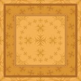 Abstract background, frame and pattern. Brown background with frame and abstract graphic outline pattern Royalty Free Illustration