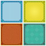 Abstract background, frame, set. Abstract background with square symmetric frame, set. Vector Stock Images