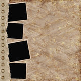 Abstract background with frames. In scrapbooking style Royalty Free Illustration