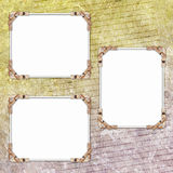 Abstract background with frames. In scrap-booking style Stock Illustration