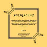 Abstract background frames. Warm background with black floral frame and sample text. eps10 Vector Illustration