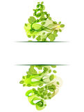 Abstract background with fresh green leaves Stock Photo