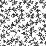Abstract background. Frosty patterns on the glass. Black shapes on white background. Seamless. Chaos Stock Photography