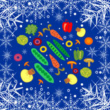 Abstract background with frozen vegetables Stock Images