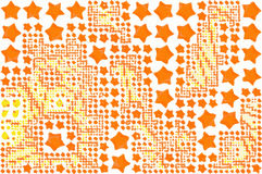 Abstract background full of stars and round shapes confetti.  royalty free illustration