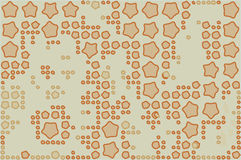 Abstract background full of stars and round shapes confetti.  stock illustration