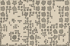Abstract background full of stars and round shapes confetti.  vector illustration