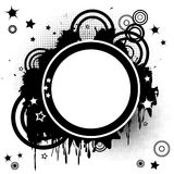Abstract background with funky circles. And spots Royalty Free Illustration