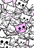 Abstract background with funny cats. Vector illustration Royalty Free Stock Photo