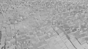 Abstract background with futuristic city. 3D rendering Royalty Free Stock Photo