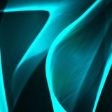 Abstract background, futuristic wavy illustration. Royalty Free Stock Photography