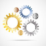 Abstract background gear Royalty Free Stock Photo