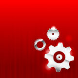 Abstract background 0011 Gear industrial technology Royalty Free Stock Images
