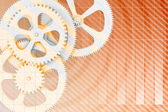 Abstract background gear wheels and chart Royalty Free Stock Images