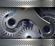 Abstract background with  gears Royalty Free Stock Photography
