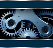 Abstract background with  gears Stock Photo
