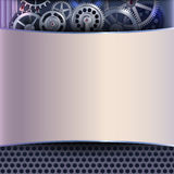 Abstract background with gears Stock Photography