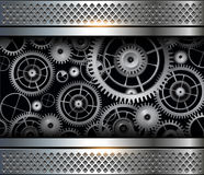 Abstract background gears. Abstract background metallic with cogs and gears, vector Vector Illustration
